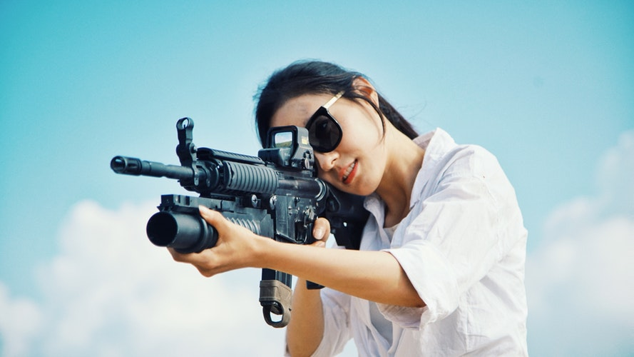 learning how to sight in a red dot scope without shooting